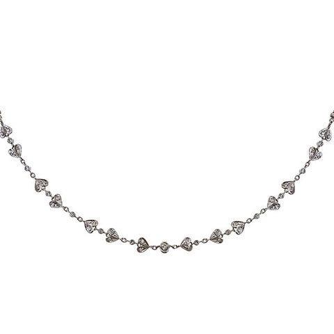 Estate Diamond Set Chain sold by Doyle & Doyle vintage and antique jewelry boutique.