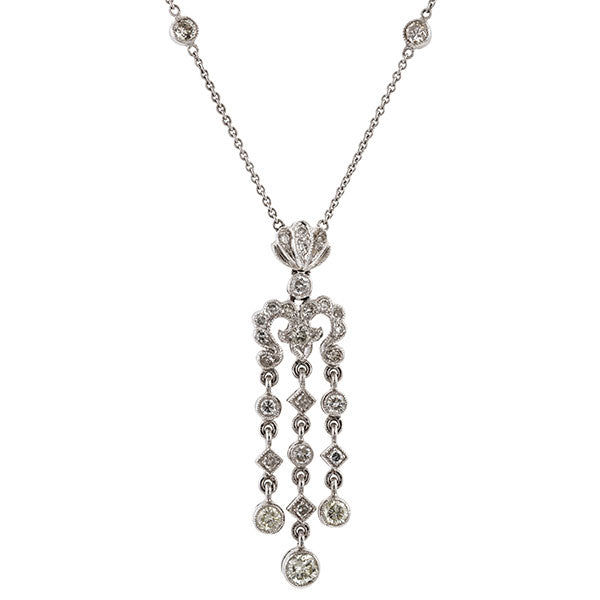 Diamond Set Pendant sold by Doyle & Doyle vintage and antique jewelry boutique.