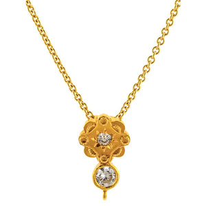 Antique Diamond Pendant sold by Doyle & Doyle vintage and antique jewelry boutique.