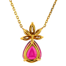 Vintage Pink Tourmaline & Diamond Pendant sold by Doyle & Doyle vintage and antique jewelry boutique.