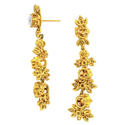 Rose Cut Diamond Drop Earrings sold by Doyle & Doyle vintage and antique jewelry boutique.