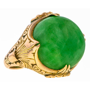 Vintage Jade Ring sold by Doyle & Doyle vintage and antique jewelry boutique.