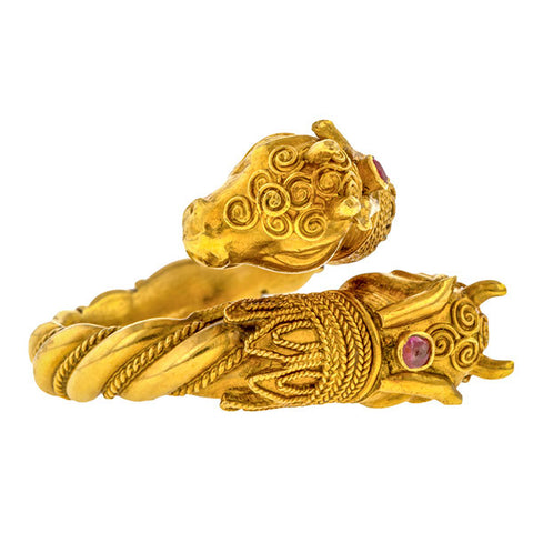 Antique Rams Head Ring sold by Doyle & Doyle vintage and antique jewelry boutique.