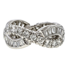 Vintage Ornate Patterned Crossover Eternity Band sold by Doyle & Doyle vintage and antique jewelry boutique.