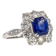 Vintage Sapphire & Diamond Ring, 2.5ct. sold by Doyle & Doyle vintage and antique jewelry boutique.