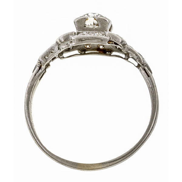 Antique Engagement Ring, Old Mine 0.62ct. sold by Doyle & Doyle vintage and antique jewelry boutique.