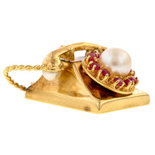 Vintage Telephone Charm sold by Doyle & Doyle vintage and antique jewelry boutique.