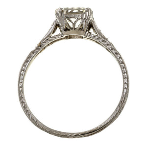 Vintage Asscher Cut Engagement Ring, 1.01ct. sold by Doyle & Doyle vintage and antique jewelry boutique.
