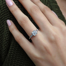 Vintage Asscher Cut Diamond Engagement Ring sold by Doyle & Doyle vintage and antique jewelry boutique.