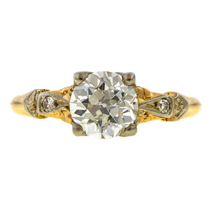 Art Deco Engagement Ring, Old European 1.06ct. sold by Doyle & Doyle vintage and antique jewelry boutique.