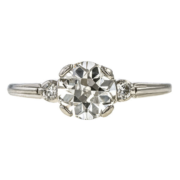 Vintage Engagement Ring, Old Euro 1.11ct sold by Doyle & Doyle vintage and antique jewelry boutique.