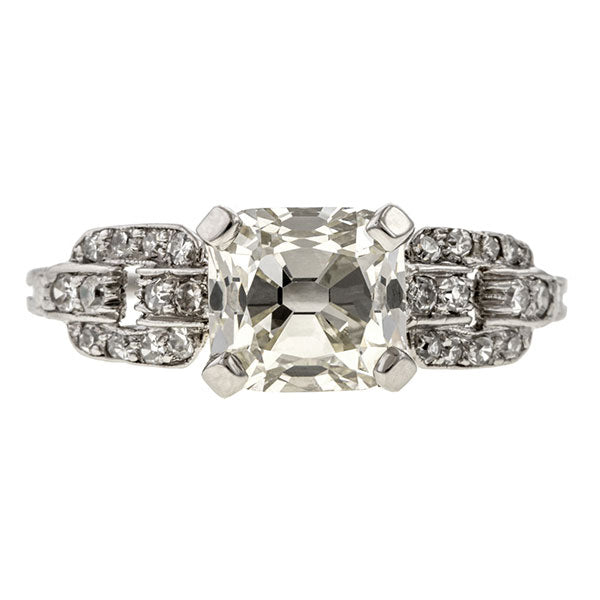Vintage Engagement Ring, RCRB 1.66ct. sold by Doyle & Doyle vintage and antique jewelry boutique.
