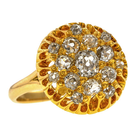 Antique Diamond Cluster Ring, 0.80ctw. sold by Doyle & Doyle vintage and antique jewelry boutique.