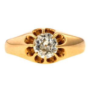 Antique Belcher Set Diamond Ring, 0.43ct. sold by Doyle & Doyle vintage and antique jewelry boutique.