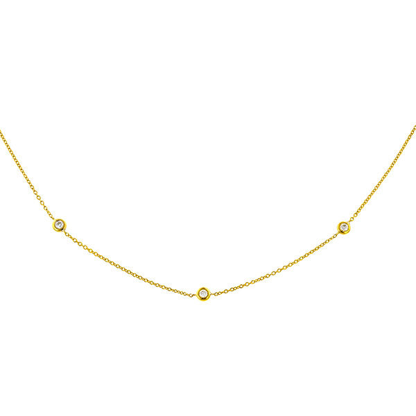 Diamond Chain Necklace sold by Doyle & Doyle vintage and antique jewelry boutique.