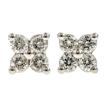 Diamond Cluster Stud Earrings, 0.14ctw.