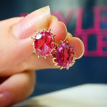 Antique Pink Sapphire Earrings