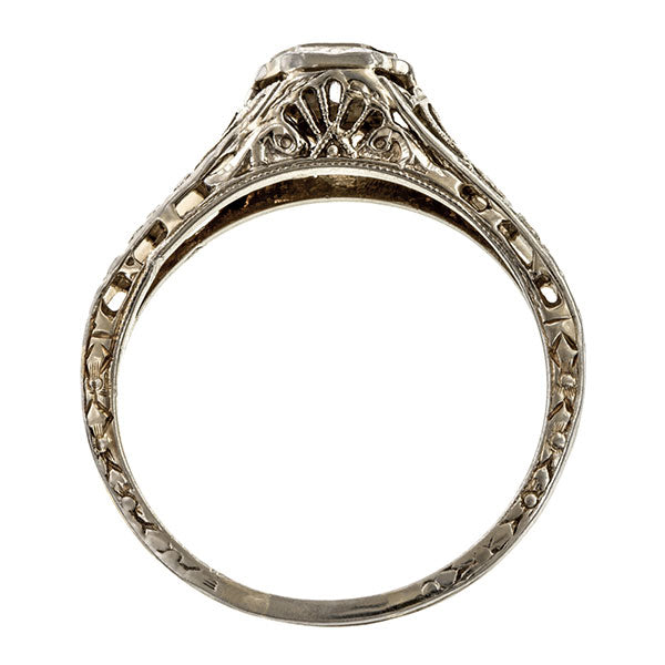 Vintage Diamond Solitaire Ring, 0.15ct. sold by Doyle & Doyle vintage and antique jewelry boutique.