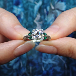 Vintage Diamond Engagement Ring, Old Euro 1.13ct. sold by Doyle & Doyle and antique & vintage jewelry store.