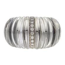 Estate Vhernier Diamond & Rock Crystal Ring sold by Doyle and Doyle an antique and vintage jewelry boutique