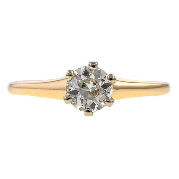 Vintage Solitaire Engagement Ring, Circular Brilliant 0.53ct. sold by Doyle & Doyle vintage and antique jewelry boutique.