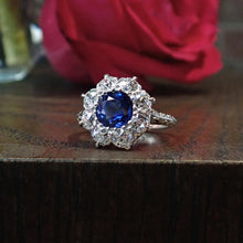 Antique Sapphire & Diamond Ring, 1.87ct.