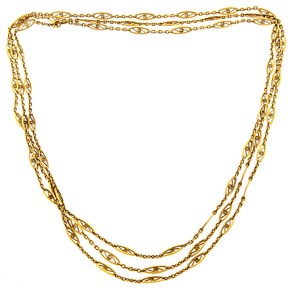 Victorian Fancy Link Chain Necklace