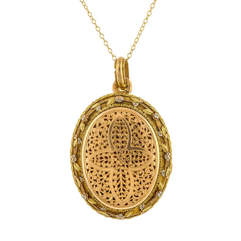 Victorian Vinaigrette Locket sold by Doyle & Doyle vintage and antique jewelry boutique.