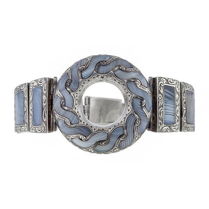 Victorian Scottish Agate Bracelet sold by Doyle & Doyle an antique & vintage jewelry boutique.