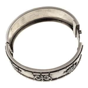 Victorian Silver Bangle Bracelet sold by Doyle & Doyle vintage and antique jewelry boutique.