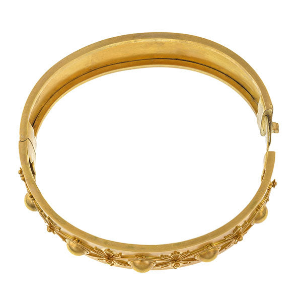 Victorian Etruscan Revival Bangle Bracelet