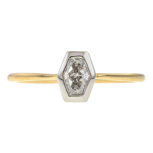 Solitaire Engagement Ring, Hexagonal 0.50ct.- Heirloom by Doyle & Doyle sold by Doyle & Doyle vintage and antique jewelry boutique.