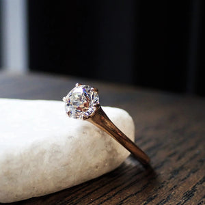 Vintage Solitaire Engagement Ring, Old Euro 0.83ct.