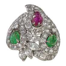 Vintage Tutti Frutti Ring sold by Doyle & Doyle vintage and antique jewelry boutique.