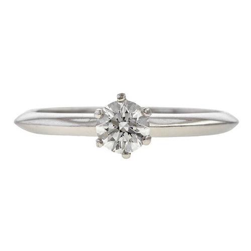 Vintage Tiffany & Co Engagement Ring, 0.35ct. sold by Doyle & Doyle vintage and antique jewelry boutique.