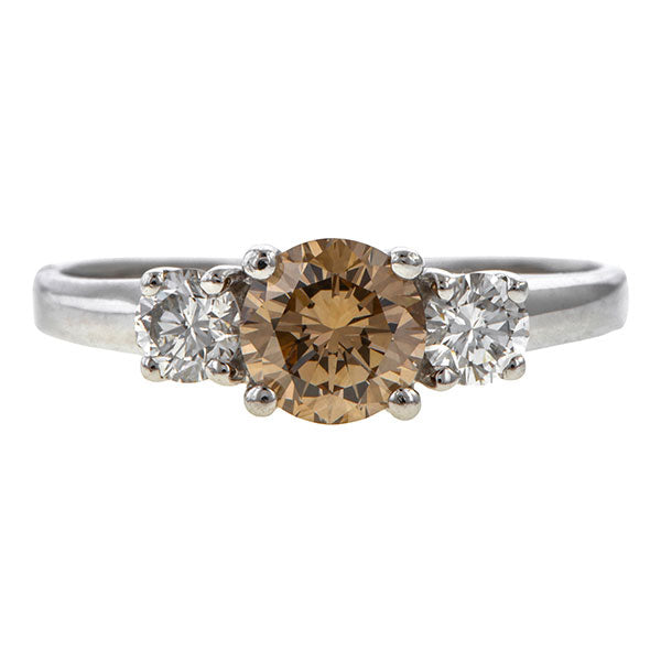Vintage Brown Diamond Engagement Ring sold by Doyle & Doyle vintage and antique jewelry boutique.