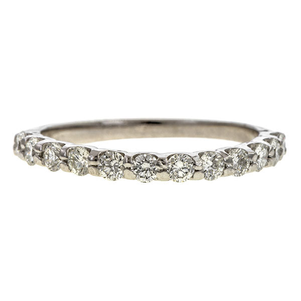Vintage Diamond Wedding Band sold by Doyle & Doyle vintage and antique jewelry boutique.