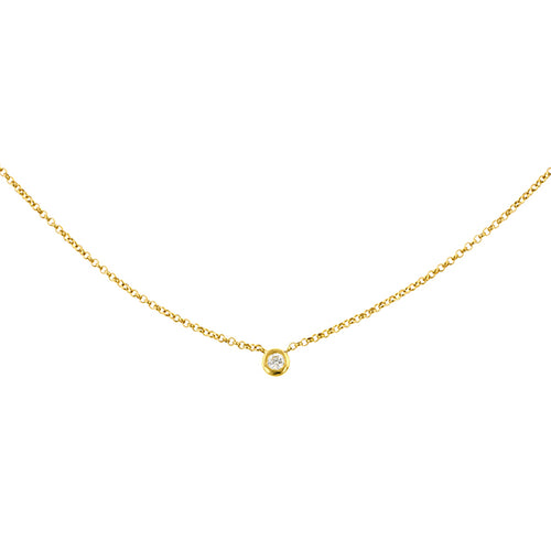 Bezel Set Diamond Pendant Necklace