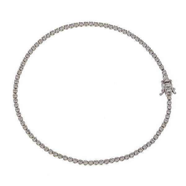 Super Skinny Diamond Tennis Bracelet
