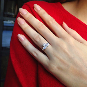 Vintage Pear Shaped Diamond Engagement Ring, 1.08ct.
