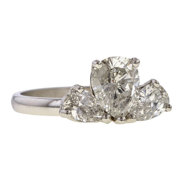 Vintage Pear Shaped Diamond Engagement Ring, 1.08ct. sold by Doyle & Doyle vintage and antique jewelry boutique.