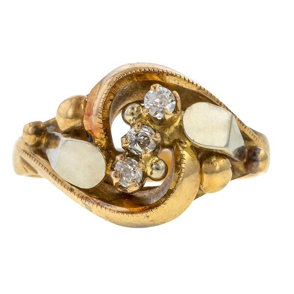 Retro Diamond Ring, 0.14ct. sold by Doyle & Doyle a vintage and antique jewelry boutique.