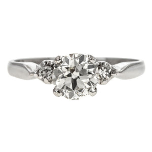 Vintage Engagement Ring, Circular Brilliant 0.86ct. sold by Doyle & Doyle vintage and antique jewelry boutique.