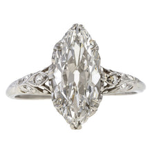 Vintage Marquise Cut Diamond Engagement Ringm 3.05ct. sold by Doyle & Doyle vintage and antique jewelry boutique.