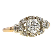 Art Deco Diamond Engagement Ring, Old Euro 0.71ct. sold by Doyle & Doyle vintage and antique jewelry boutique.