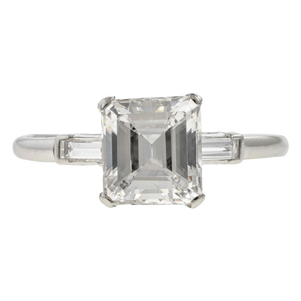 Vintage Emerald Cut Engagement Ring, 2.01ct. sold by Doyle & Doyle vintage and antique jewelry boutique.