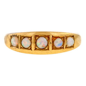 Antique Opal Band Ring sold by Doyle & Doyle an antique & vintage jewelry boutique.