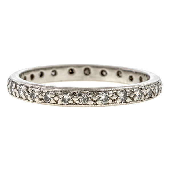 Vintage Diamond Eternity Band sold by Doyle & Doyle vintage and antique jewelry boutique.