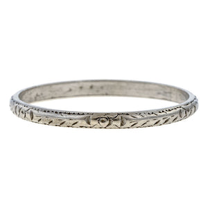 Patterned Wedding Band sold by Doyle & Doyle vintage and antique jewelry boutique.