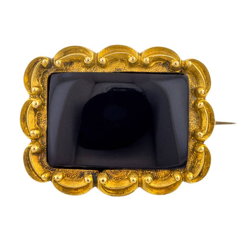 Georgian Mourning Brooch sold by Doyle & Doyle vintage and antique jewelry boutique.